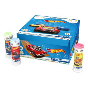 Hot Wheels - Bolle di sapone Bubble World - Confezione da 36 pz