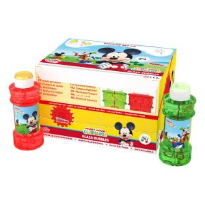 Bolle di sapone Glass Bubble World Mickey Mouse_confezione da 12 pz