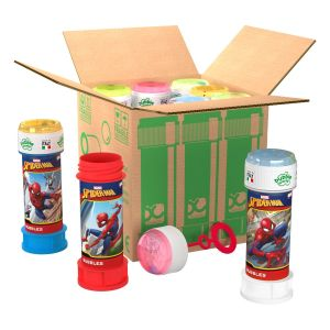 Spiderman - Bolle di sapone in pack Bubble World - Confezione da 9 pz
