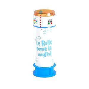 Bolle di sapone personalizzate Bubble World con tubetto blu